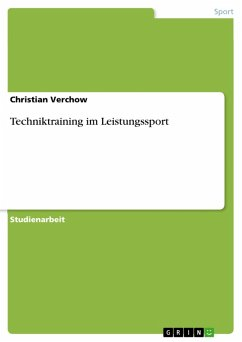techniktraining im leistungssport ebook pdf von christian verchow portofrei bei b. Black Bedroom Furniture Sets. Home Design Ideas