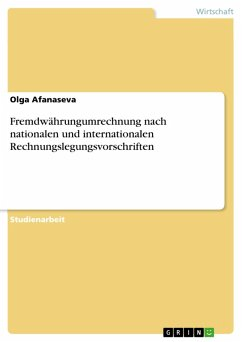 Fremdwährungumrechnung nach nationalen und internationalen Rechnungslegungsvorschriften (eBook, PDF)