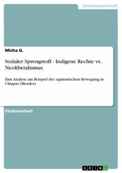 Sozialer Sprengstoff - Indigene Rechte vs. Neoliberalismus (eBook, PDF)