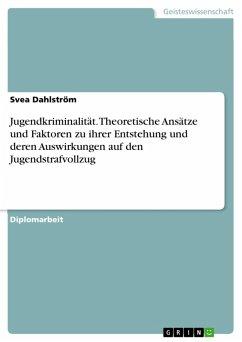 Jugendkriminalität - Theoretische Ansätze und Faktoren zu ihrer Entstehung und derer Auswirkungen auf den Jugendstrafvollzug (eBook, PDF)