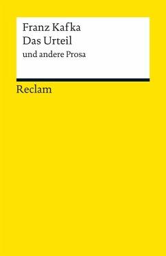 Das Urteil und andere Prosa (eBook, ePUB) - Kafka, Franz
