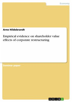 Empirical evidence on shareholder value effects of corporate restructuring (eBook, PDF)