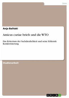 Amicus curiae briefs und die WTO (eBook, PDF)