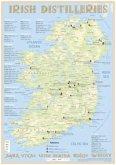 Whiskey Distilleries Ireland - Tasting Map 24x34cm