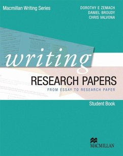 Writing Research Papers. Student's Book - Zemach, Dorothy E.;Valvona, Chris