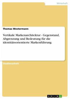 Vertikale Markenarchitektur - Gegenstand, Abgrenzung und Bedeutung für die identitätsorientierte Markenführung (eBook, PDF)
