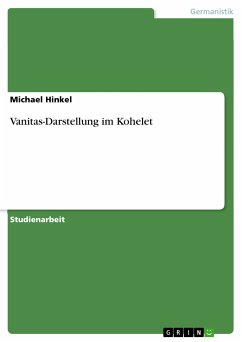 Vanitas-Darstellung im Kohelet (eBook, PDF)