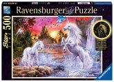 Ravensburger 14873 - Einhörner am Fluss, Starline Puzzle 500 Teile