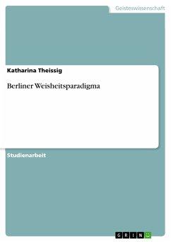 Berliner Weisheitsparadigma (eBook, PDF)