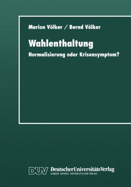Wahlenthaltung - Völker, Marion; Völker, Bernd