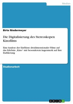 Die Digitalisierung des Stereoskopen Kinofilms (eBook, ePUB)