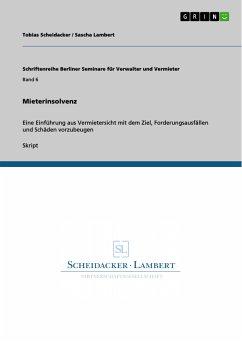 Mieterinsolvenz (eBook, PDF)