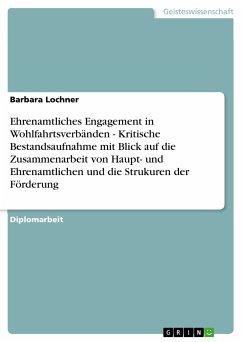 Ehrenamtliches Engagement in Wohlfahrtsverbänden - Kritische Bestandsaufnahme mit Blick auf die Zusammenarbeit von Haupt- und Ehrenamtlichen und die Strukuren der Förderung (eBook, PDF)