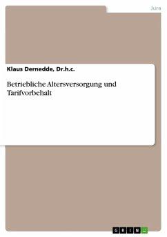 Betriebliche Altersversorgung und Tarifvorbehalt (eBook, ePUB)