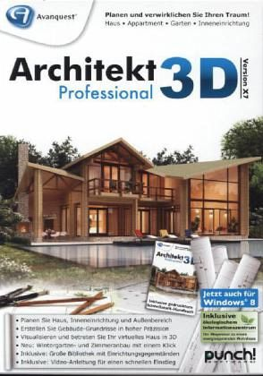 architekt 3d x7 professional pc software. Black Bedroom Furniture Sets. Home Design Ideas