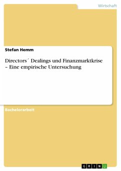 Directors´ Dealings und Finanzmarktkrise - Eine empirische Untersuchung (eBook, PDF)