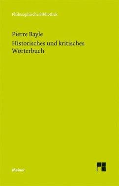 Historisches und kritisches Wörterbuch (eBook, PDF) - Bayle, Pierre