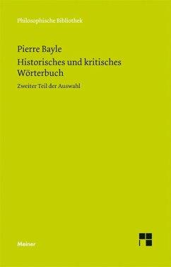 Historisches und kritisches Wörterbuch II (eBook, PDF) - Bayle, Pierre