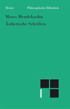 Ästhetische Schriften (eBook, PDF) - Mendelssohn, Moses