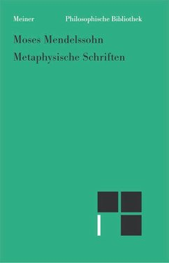 Metaphysische Schriften (eBook, PDF) - Mendelssohn, Moses