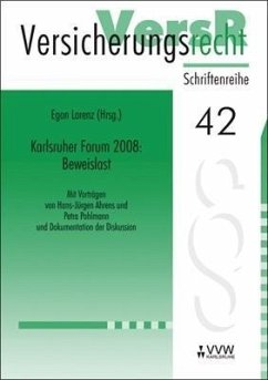 Karlsruher Forum 2008: Beweislast (eBook, PDF) - Ahrens, Hans-Jürgen; Pohlmann, Petra