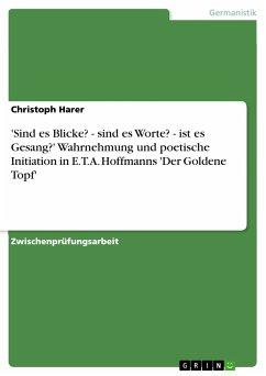 'Sind es Blicke? - sind es Worte? - ist es Gesang?' Wahrnehmung und poetische Initiation in E.T.A. Hoffmanns 'Der Goldene Topf' (eBook, PDF) - Harer, Christoph