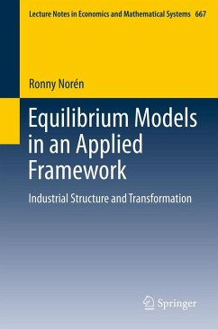 Equilibrium Models in an Applied Framework (eBook, PDF) - Norén, Ronny