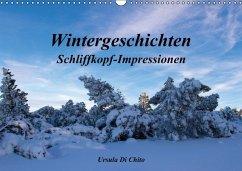 Wintergeschichten - Schliffkopf-Impressionen (Wandkalender immerwährend DIN A3 quer)