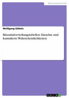 Binomialverteilungstabellen: Einzelne und kumulierte Wahrscheinlichkeiten (eBook, PDF)