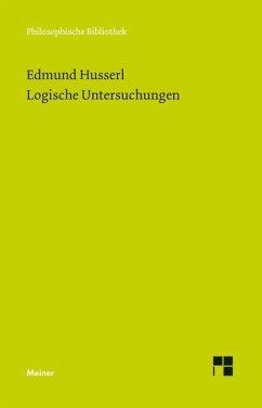Logische Untersuchungen - Husserl, Edmund