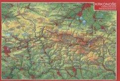 Riesengebirge, Reliefpostkarte; Krkonose; Karkonosze