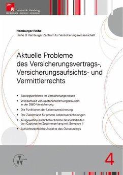 Aktuelle Probleme des Versicherungsvertrags-, Versicherungsaufsichts- und Vermittlerrechts (eBook, PDF) - Drees, Holger; Koch, Robert; Nell, Martin