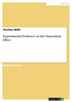 Experimental Evidence on the Disposition Effect