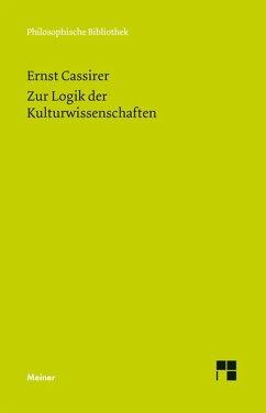 Zur Logik der Kulturwissenschaften. Fünf Studien (eBook, PDF) - Cassirer, Ernst