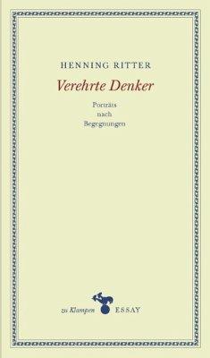 Verehrte Denker (eBook, ePUB) - Ritter, Henning