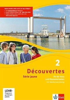 Fit für Tests und Klassenarbeiten, m. CD-ROM / Découvertes - Série jaune Bd.2