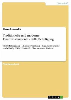 Traditionelle und moderne Finanzinstrumente - Stille Beteiligung (eBook, ePUB)