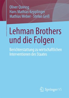 Lehman Brothers und die Folgen (eBook, PDF) - Quiring, Oliver; Kepplinger, Hans Mathias; Weber, Mathias; Geiß, Stefan