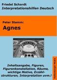 Agnes (Peter Stamm) - Lektürehilfe und Interpretationshilfe. Interpretationen und Vorbereitungen für den Deutschunterricht. (eBook, ePUB)
