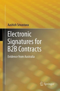 Electronic Signatures for B2B Contracts (eBook, PDF) - Srivastava, Aashish
