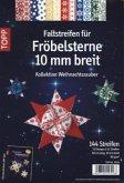 """Faltstreifen für Fröbelsterne """"Weihnachtszauber"""", 10 mm breit"""