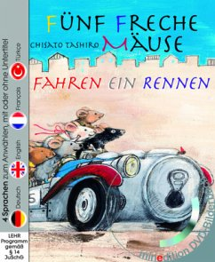 Fünf freche Mäuse fahren ein Rennen (Buch mit DVD) - Tashiro, Chisato