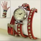 Uhr Retro-Style rot