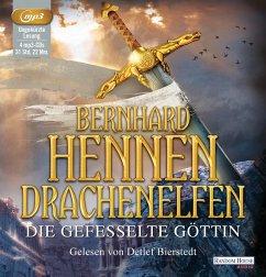 Die gefesselte Göttin / Drachenelfen Bd.3 (4 MP3-CDs) - Hennen, Bernhard