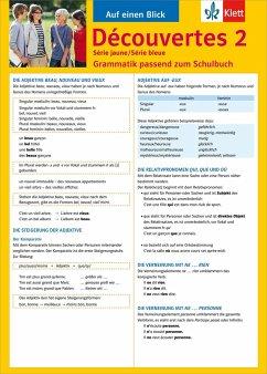 Découvertes Série jaune und bleue 2. Grammatik - Malek, Bettina
