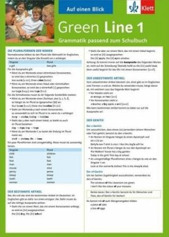 Green Line 1. Alles auf einen Blick. Grammatik Bd.1 - Schlimm, Sabine