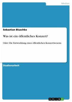 Was ist ein öffentliches Konzert? (eBook, ePUB) - Bluschke, Sebastian