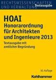 HOAI Honorarordnung für Architekten und Ingenieure 2013