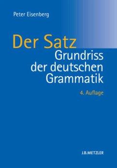 Grundriss der deutschen Grammatik - Eisenberg, Peter