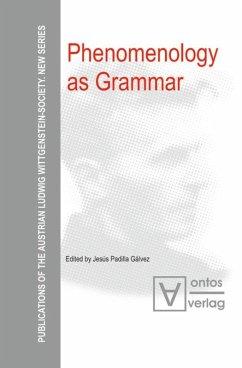 Phenomenology as Grammar